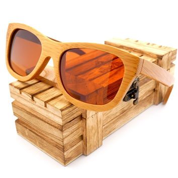 Ladies' Wooden Square sun glasses Wood sunglasses Womens top luxulry brand design polarized sunglasses In Wood Gift Case B017