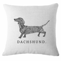 Dachshund Cushion Cover- 17x17