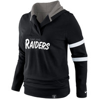 Oakland Raiders Nike Women's Play Action Hooded Top – Black