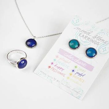 Changing Color Mood Stone Necklace