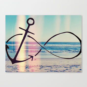 Infinity Beach Stretched Canvas by PinkBerryPatterns