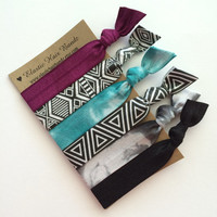 The Jade Hair Tie - Ponytail Holder Collection by Elastic Hair Bandz