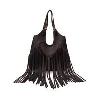 Womens Fringe Hobo Handbag