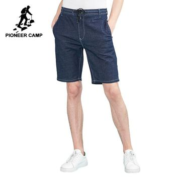 Pioneer camp new summer denim shorts men brand clothing solid quality jean shorts cotton male soft bermuda short pants ANZ803126