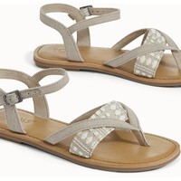 OXFORD TAN HERITAGE CANVAS WOMEN'S LEXIE SANDALS