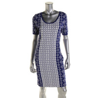 Romeo & Juliet Couture Womens Knit Printed Sweaterdress