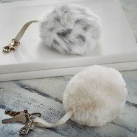 Faux-Fur Bluetooth Speaker Keychains
