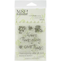 "My Sentiments Exactly Clear Stamps 3""""X4"""" Sheet-Thanksgiving Quote"