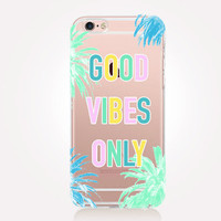 Transparent Vibes iPhone Case - Transparent Case - Clear Case - Transparent iPhone 6 - Samsung S7 - Soft TPU - Gel Case - iPhone SE