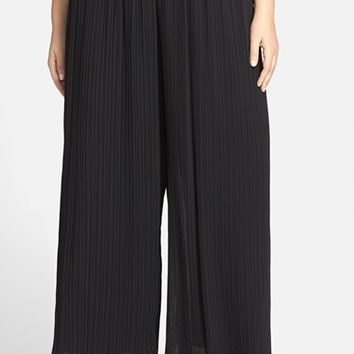 Plus Size Women's Alex Evenings Pleated Wide Leg Pants,