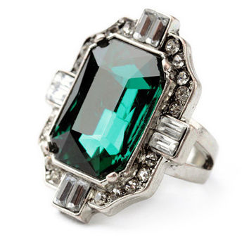 Emerald Pave Ring