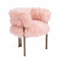 Darcy Chair in Blush Sheepskin