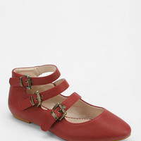Kimchi Blue Triple-Buckle Flat - Urban Outfitters