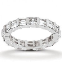 2 1/3ct tw Diamond Anniversary Ring in 14K White Gold - Diamond Rings - Jewelry & Gifts