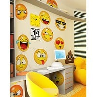Large Emoji Faces Wall Decal Sticker #6052