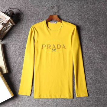 ICIKUN2 Prada Men or Women Fashion Casual Long Sleeve Top Sweater Pullover