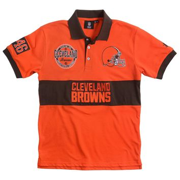 Cleveland Browns KLEW Forever Collectibles Wordmark Rugby Polo Shirt Size M-XXL