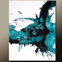 Abstract Canvas Art Painting Contemporary Original Paintings by Destiny Womack  - dWo - Falling Teardrops