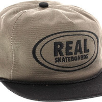 Real Oval Unstructured Adj Hat-Grey/Black