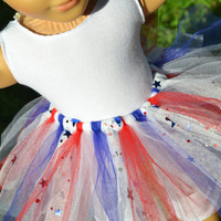 American Girl Doll Clothes- leotard & 4th of July tutu, 18 in doll clothes