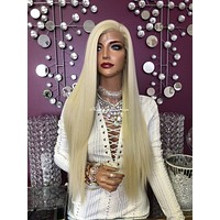 Blonde Silicon Skin Lace Front 13 x4 Multi Parting Medical Wig | Catherine | 918 16