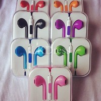Purple Earphone Headphones with Remote Mic for iPhone from 1Point99.com