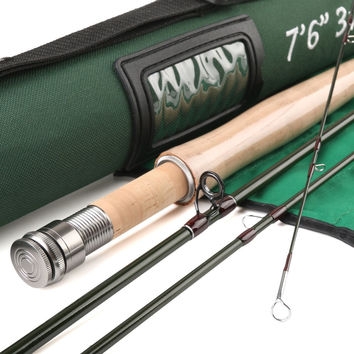 Super Light Fly Rod 40T SK Carbon Fly Rod V-light 7634  7.6FT 3 WT Fly Fishing Rod  Fast Action With Cordura Tube
