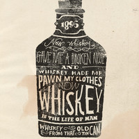 Whiskey Art Print by Jon Contino
