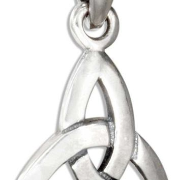 STERLING SILVER SMALL CELTIC TRINITY KNOT PENDANT