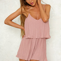 Too Proud For Love Playsuit Blush