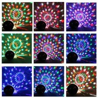 IMAGE® Stylish 20W DMX Voice-activated RGB LED Crystal Magic Ball Laser Effect Light For Disco DJ Party Bar KTV Christmas Show(US regulatory plug)6 Mix Colors (red, green, blue, orange, white, purple)