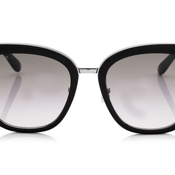 Jimmy Choo Fabry Black Acetate Cat-Eye with Glitter Detail Sunglasses