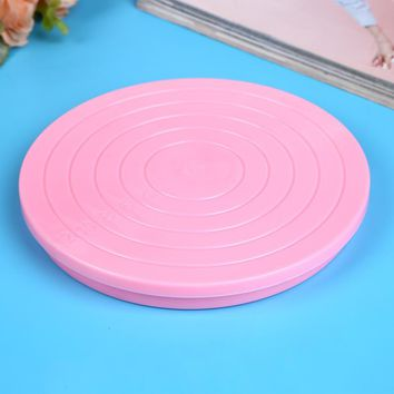 Facemile Xmas Party Kitchen Cake Plate Revolving Decoration Stand Turntable Round Rotating Cake Swivel Pastry Baking Tool