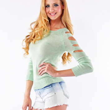 Bandage Cutout Sweater