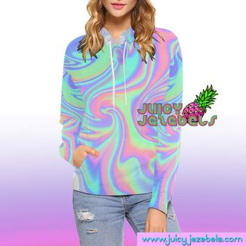 HOLOGRAPH GIRL Rave Outfit Women Aesthetic Clothing Rave Wear Rave Clothes Festival Clothing Rave Clothing Burning Man Clothing Trance Edm
