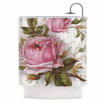 "Suzanne Carter ""Vintage Rose"" Pink Floral Shower Curtain"