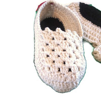 Holiday Special Crocheted Slippers Ready to Ship