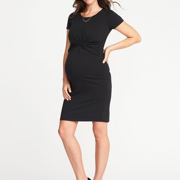 Maternity Twist-Front Bodycon Dress | Old Navy