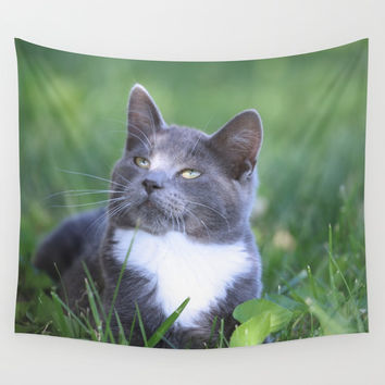 Boots - A Kitten Wall Tapestry by Theresa Campbell D'August Art