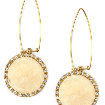 RACHEL Rachel Roy Earrings, Ivory Druzy Linear Drop Earrings
