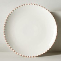 Pearl-Drop Dinner Plate by Anthropologie in White Size: Dinner Kitchen
