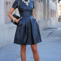Short Sleeve Sheath A-Line Mini Skater Dress