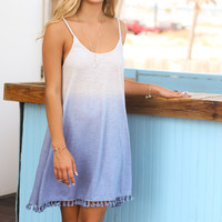 Sundance Blue Boho Two Tone Dress