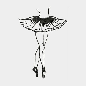 My dream that came true! Ballet Ballerina Dancers Machine Embroidery Designs - Instant Download Filled Stitches Design 150