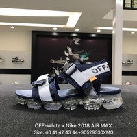 OFF-White x Nike 2018 AIR MAX Black White Sandals Sports Shoes Sneaker - 850588-003