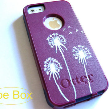 OTTERBOX iphone 5/5s case, case cover iphone 5s otterbox ,iphone 5 otterbox case,otterbox iPhone 5,gift,dandelion otterbox case