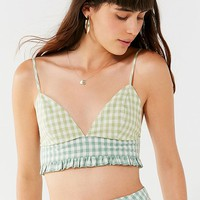 UO Leanna Gingham Bra Top | Urban Outfitters