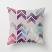 Chevron Dream Throw Pillow by Beth Thompson