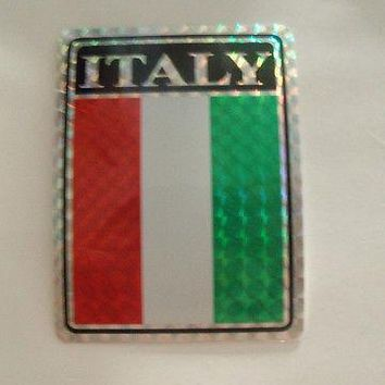 "Italy Flag Stickers 3""x4"""