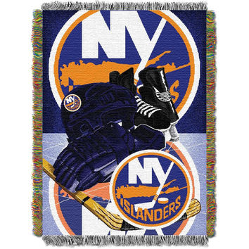 New York Islanders NHL Triple Woven Jacquard Throw (48x60)